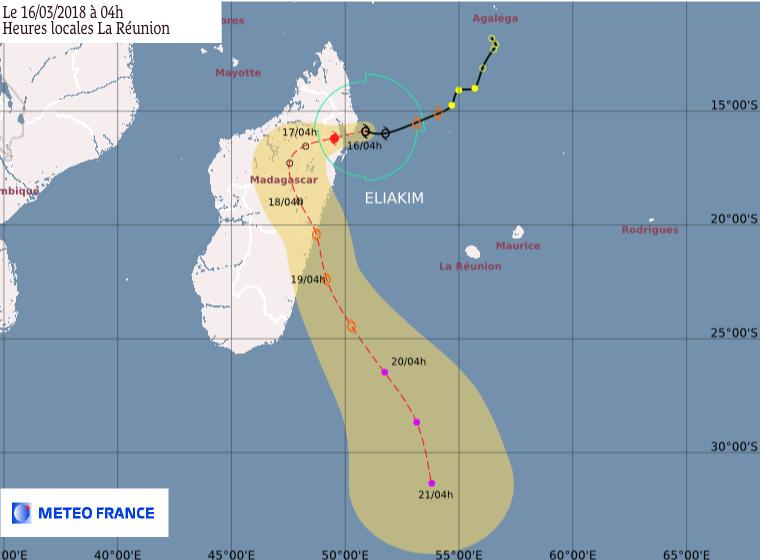 Eliakim : prévision de trajectoire et intensité du CMRS de la Réunion