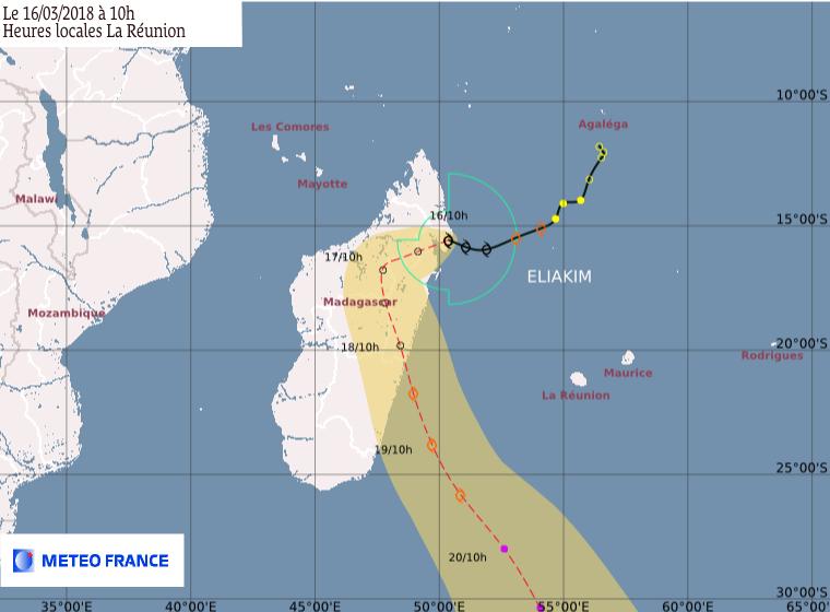 ELIAKIM : prévision trajectoire et intensité CMRS de la Réunion