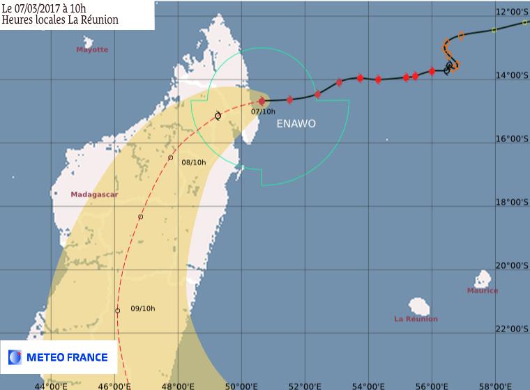 ENAWO : Prévision Météo France du 07/03/2017 à 10h