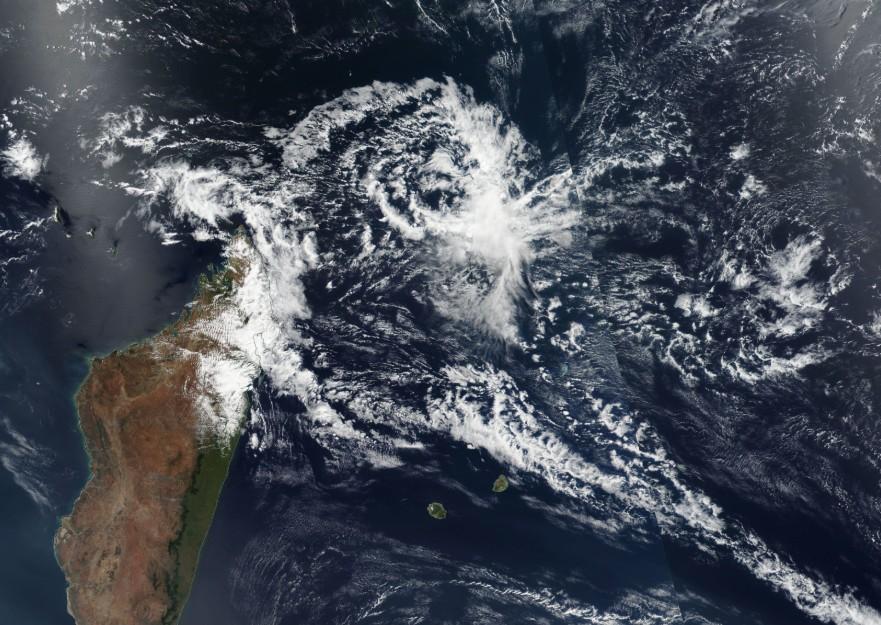 Perturbation Tropicale à proximité d'Agalega ©NASA