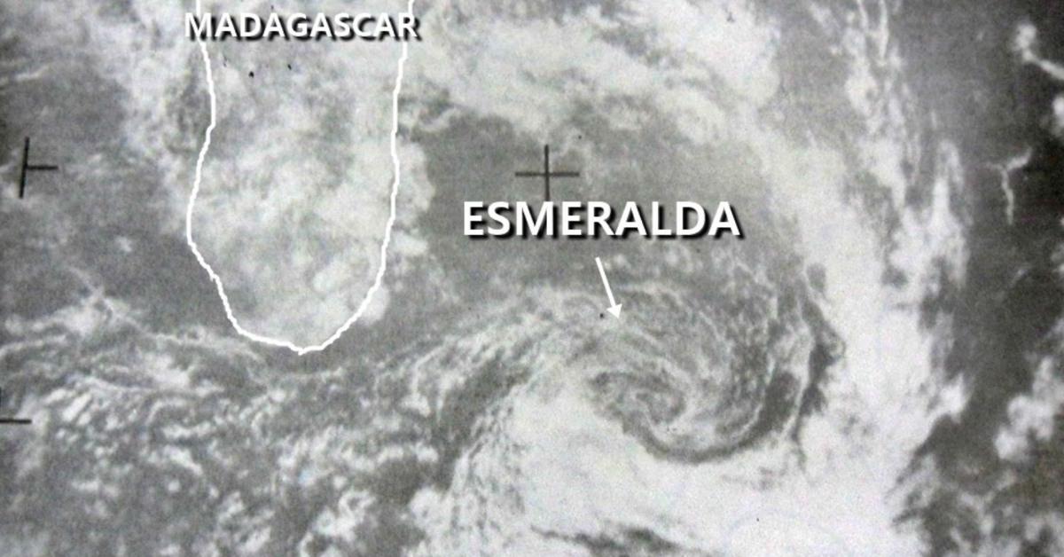 Dépression Tropicale Esmeralda au sud de la Réunion en 1974