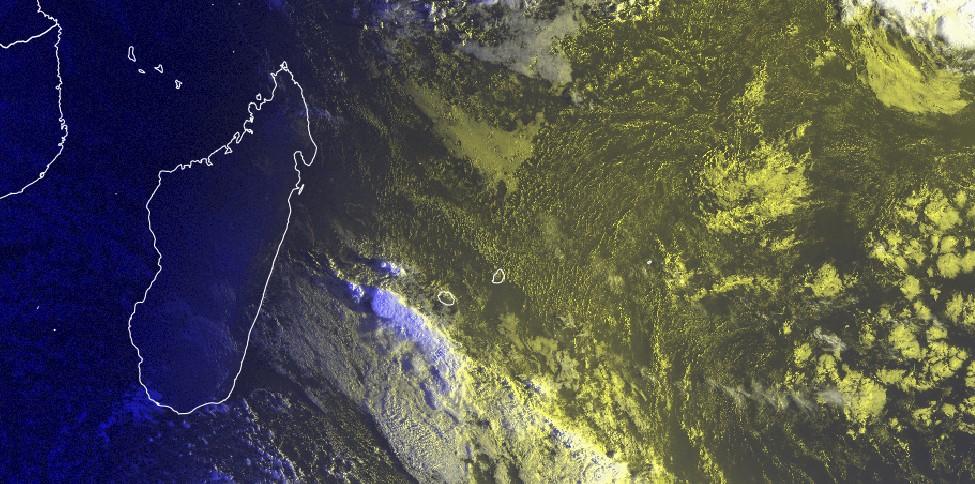 Image satellite ocean indien sud-ouest