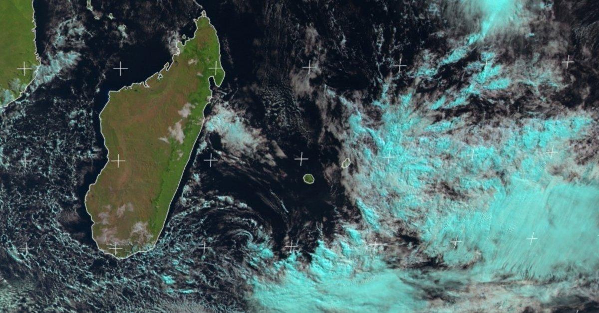 forte pluie à l'île Rodrigues