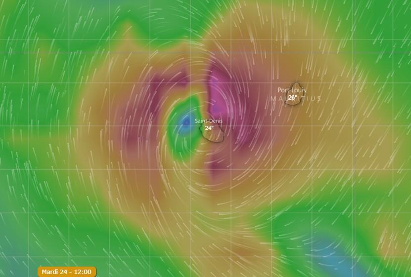 Appel à la vigilance à la Réunion et Maurice — Dépression Tropicale
