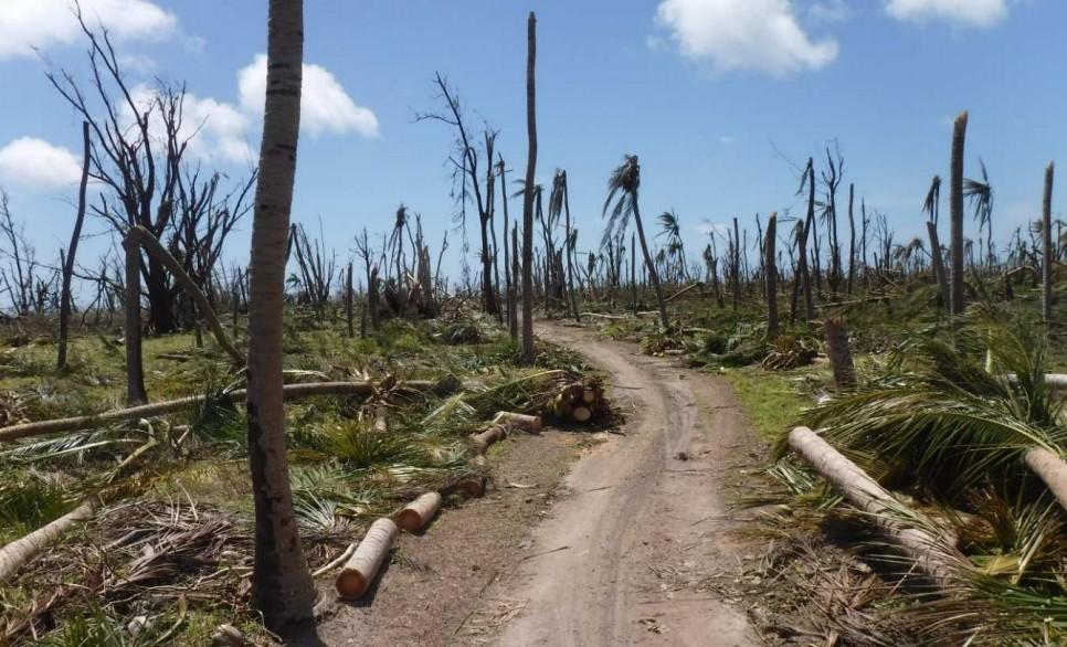 Farquhar après le passage du cyclone très intense FANTALA (Seychelles Met Authority)
