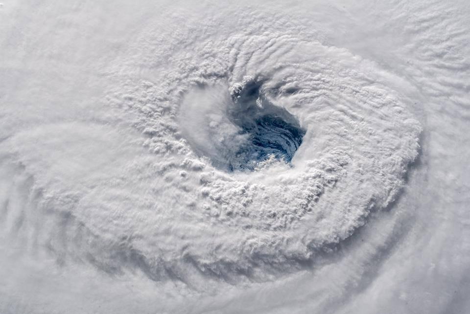 Image de l'ouragan FLORENCE prise depuis l'ISS par Alexandre Gerst
