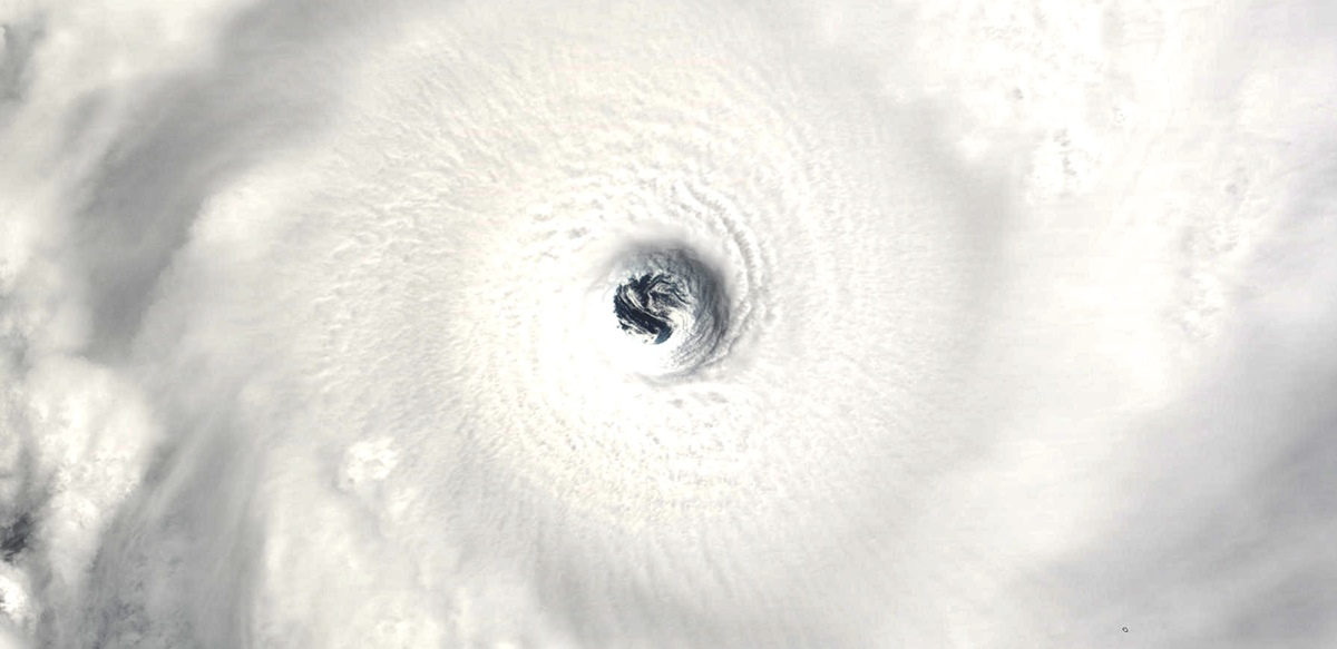 Oeil du cyclone GAFILO le 06 mars 2004