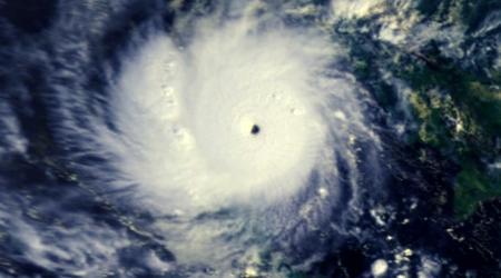 typhon Gay frappant la thailand en 1989