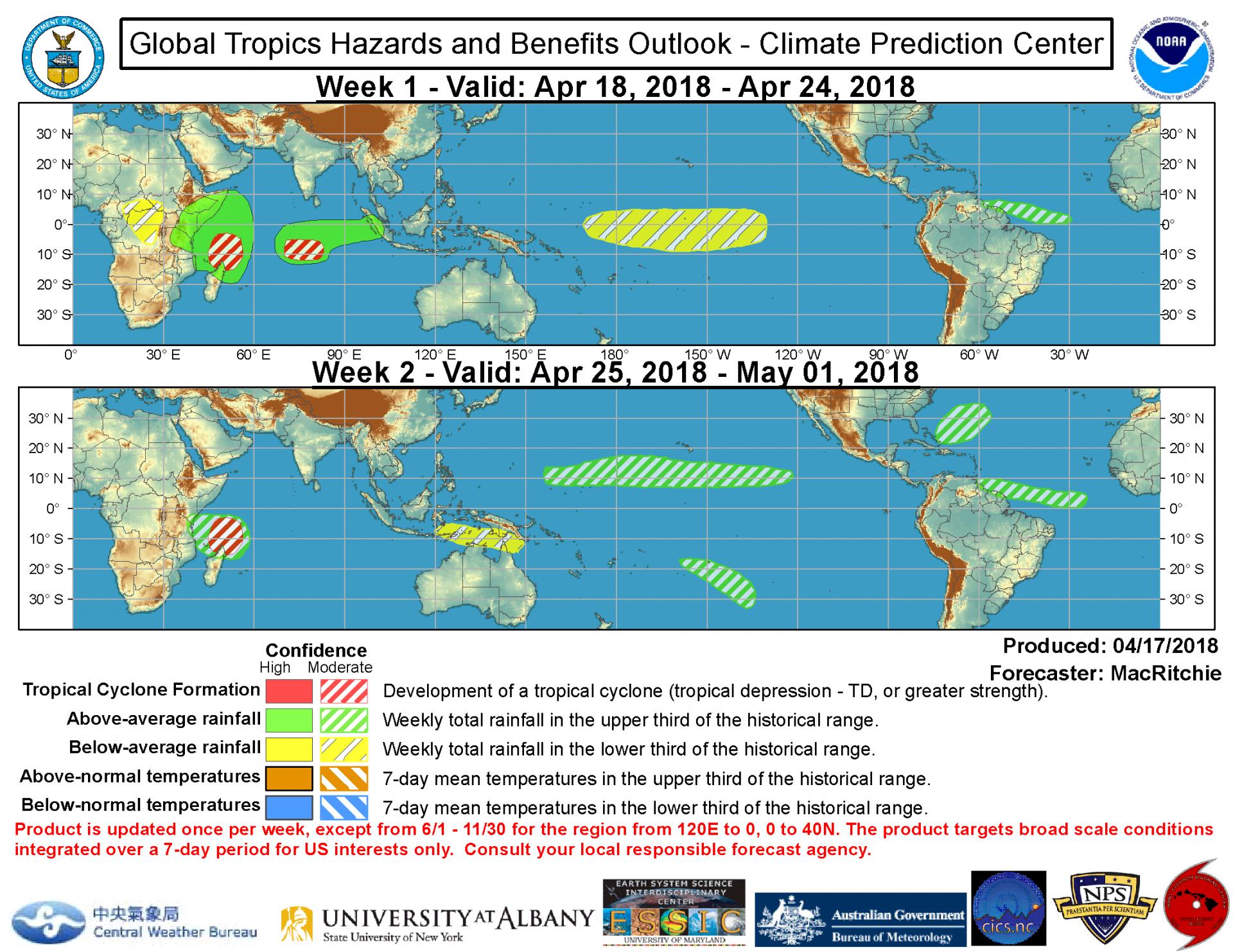 Tendances d'activité cyclonique selon la NOAA