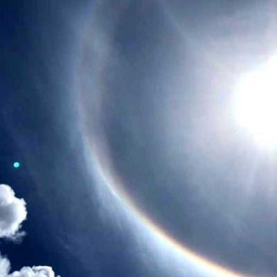 Halo solaire à la Réunion