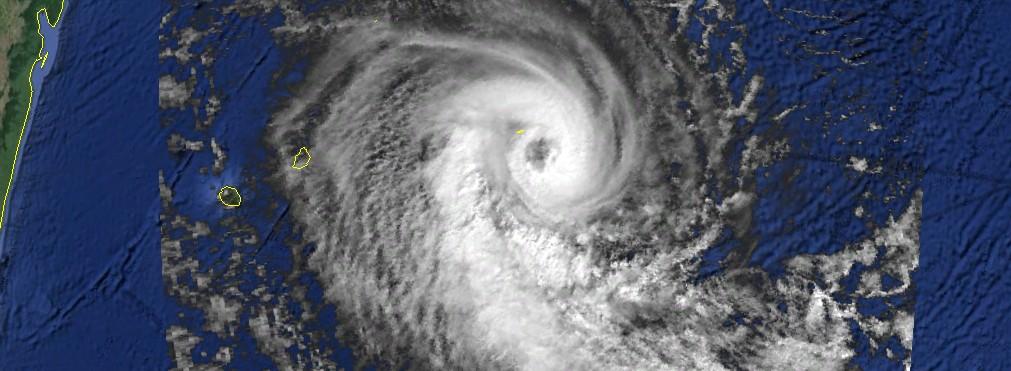 Hansella le 060496 à 6utc (NOAA)