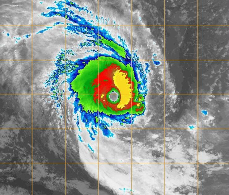 Image infrarouge du cyclone tropical intense HONDO le 08/02/2008 à 2256z (NRL)