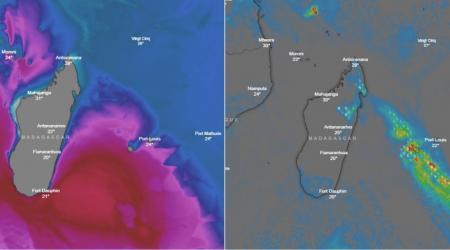 Houle et orage ocean indien sud ouest