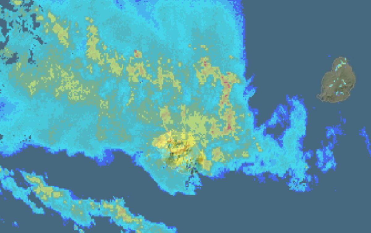 Image radar la reunion