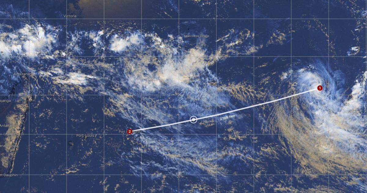 Image sat depression tropicale 12