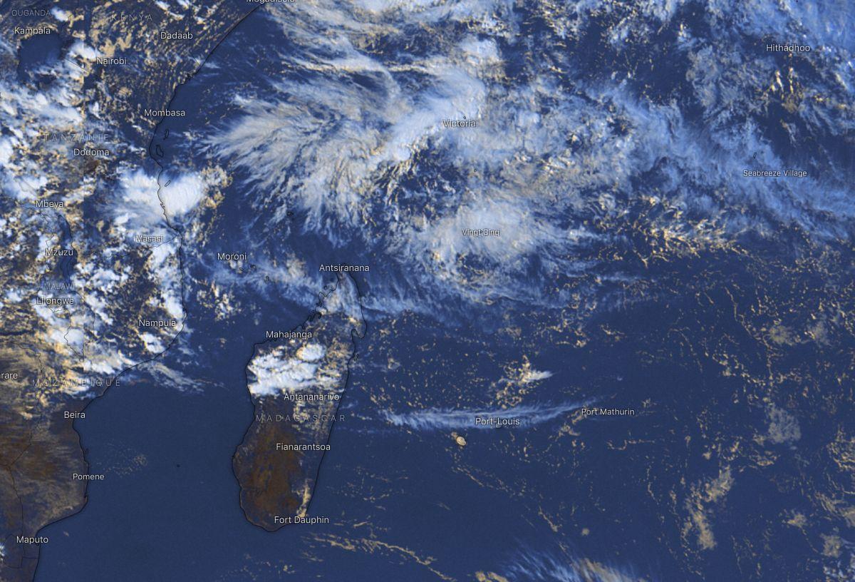 Image satellite ocean indien sud ouest
