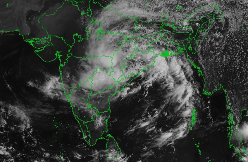 L'inde impacté par la tempête tropicale DAYE ©IMD