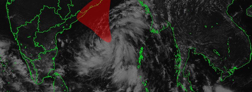 Zone potentiellement menacée par la peut-être future tempête TITLI