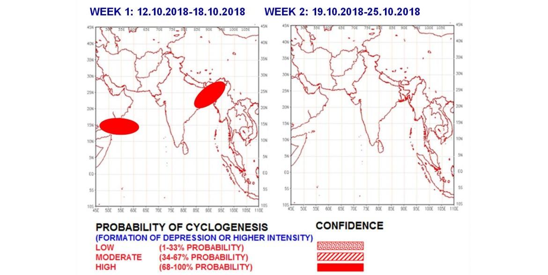 Prévision de cyclogenèse dans l'océan indien nord ©IMD