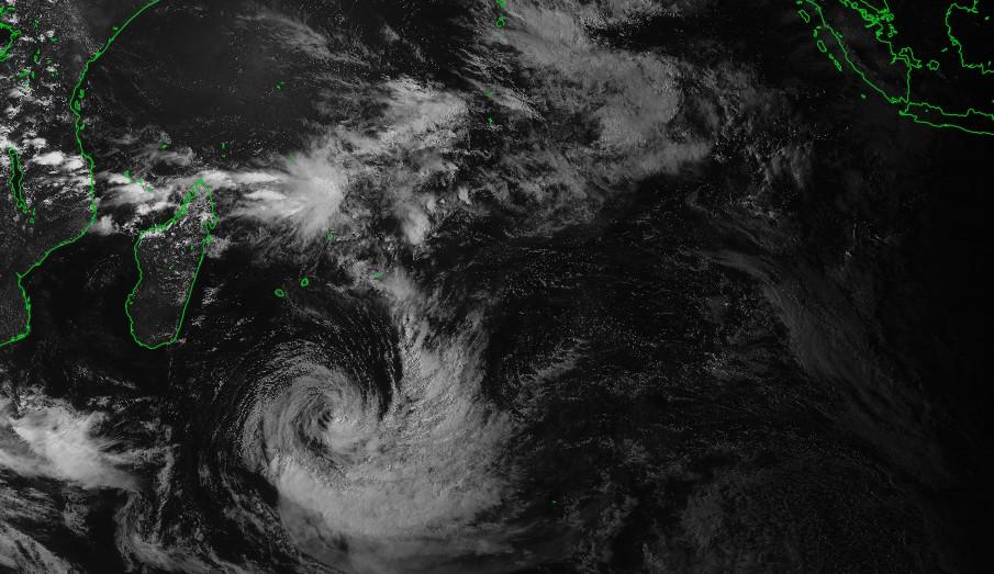 Image satellite de l'océan indien à 12z le 08/03/2018 ©IMD
