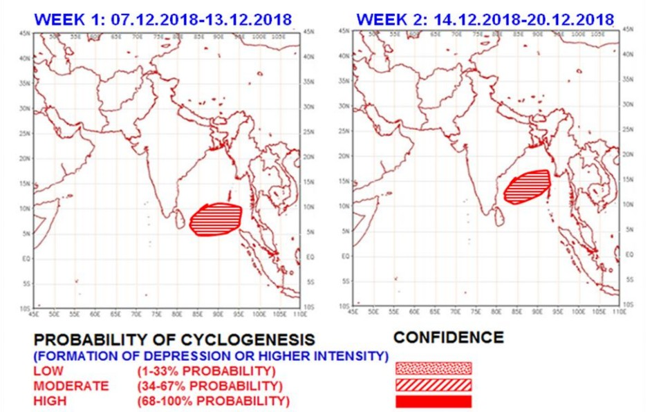 Probabilité cyclogenèse océan indien nord