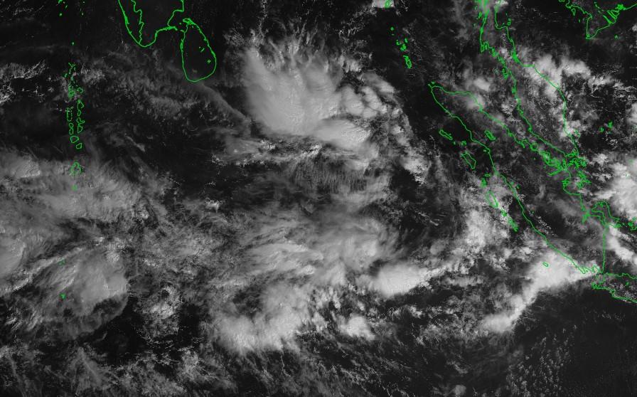 forte activité convective das l'océan indien