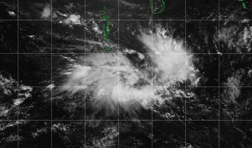 Zone suspecte 96S à l'est de Diego Garcia ©IMD