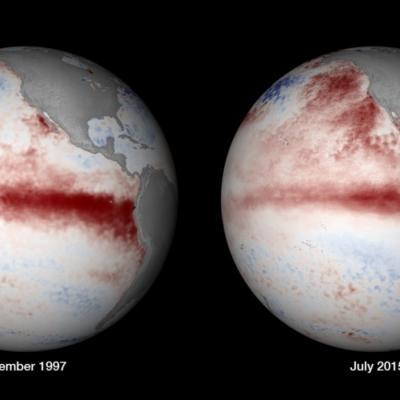 Comparaison El Nino en Novembre 1997 et Juillet 2015
