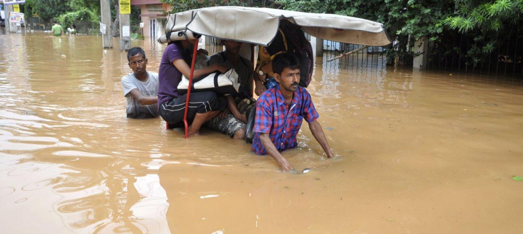 Inondation assam inde