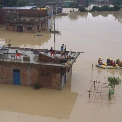 Inondation inde nepal