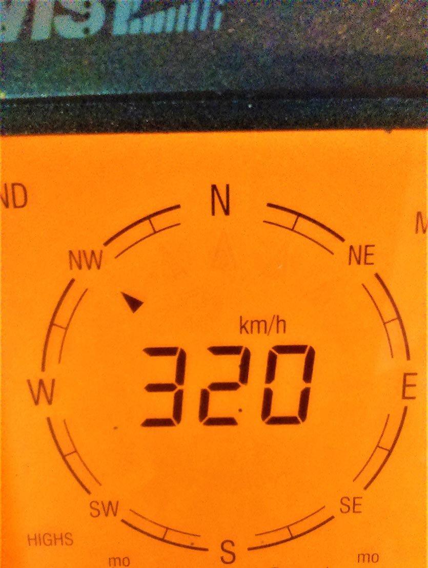 Compteur vent de la station de S. BRIN (wunderground.com)