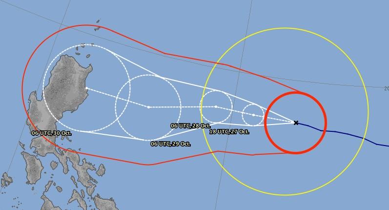 Prévision trajectoire super typhon YUTU ©JMA