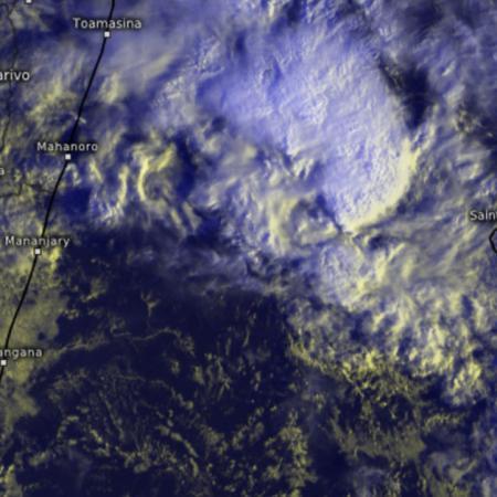 Image satellite zoom Mascareignes