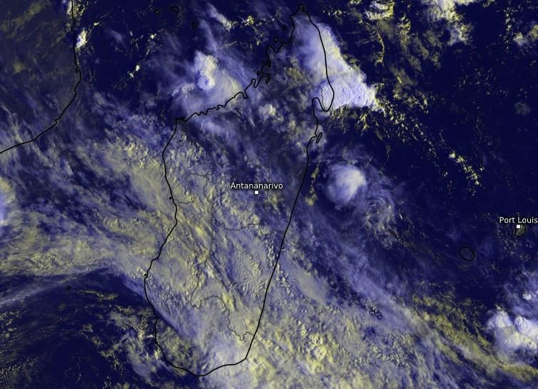 Image satellite zoomée sur Madagascar (Kachelmann)