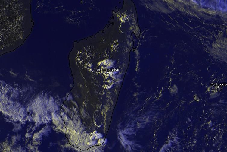 Développement orageux sur Madagascar ©Kachelmannwetter