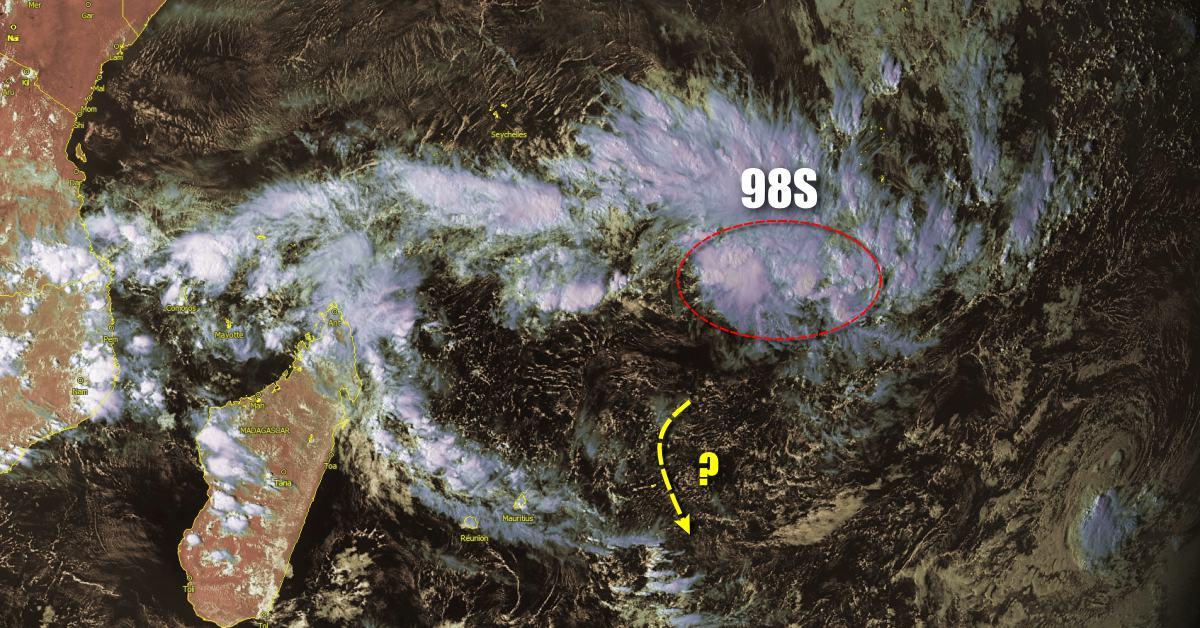 Cyclogenese au nord des Mascareignes