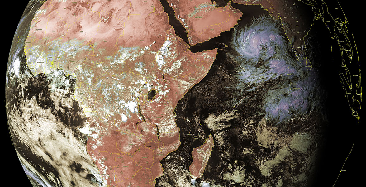 Image satellite océan indien ©Kobus Botha