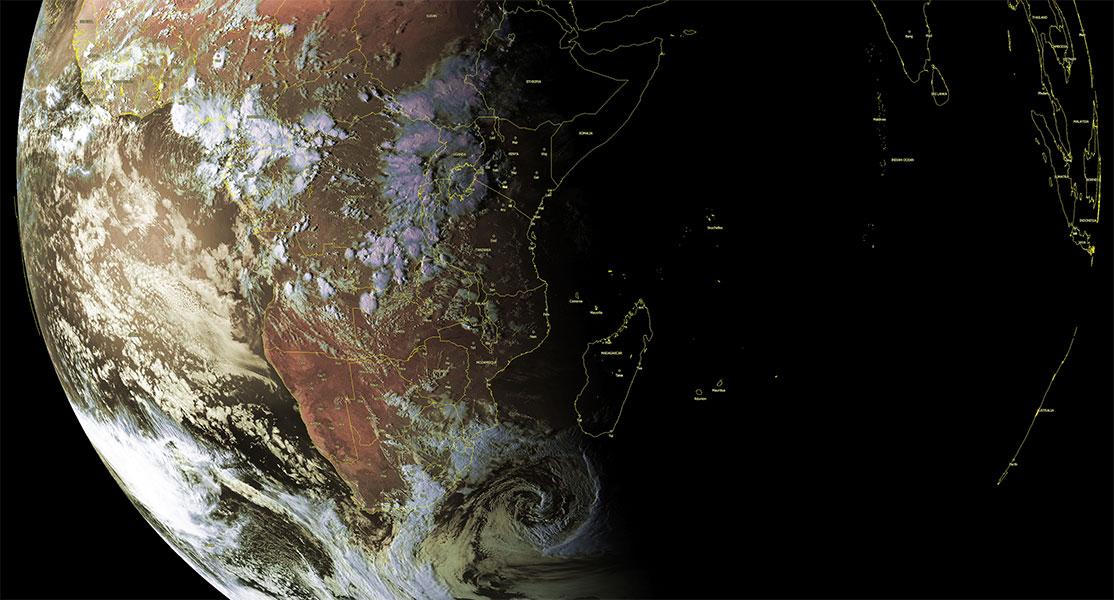 Image satellite Afrique et océan indien sud-ouest