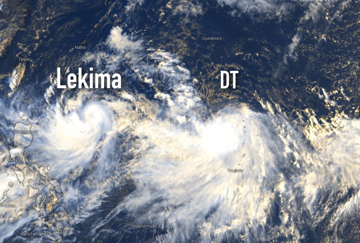 future tempête Krosa et lekima