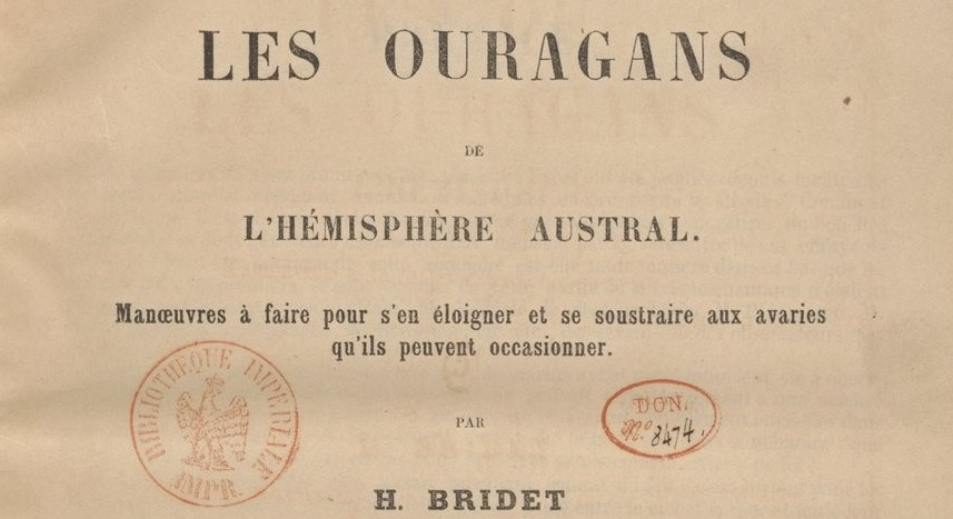 Etudes sur les ouragans australs de H. Bridet - 1861 (gallica.bnf.fr)