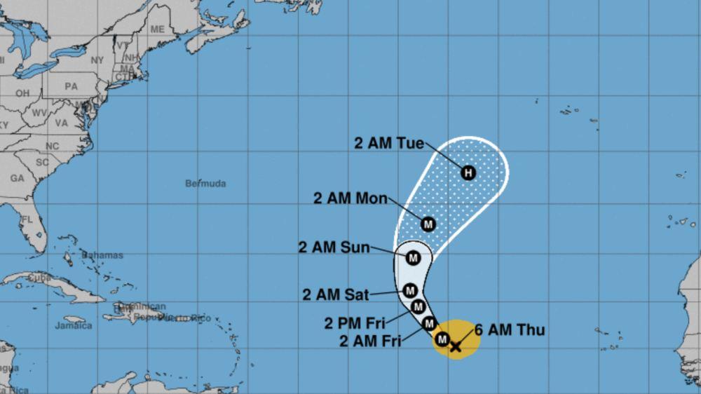 Lorenzo track forecast