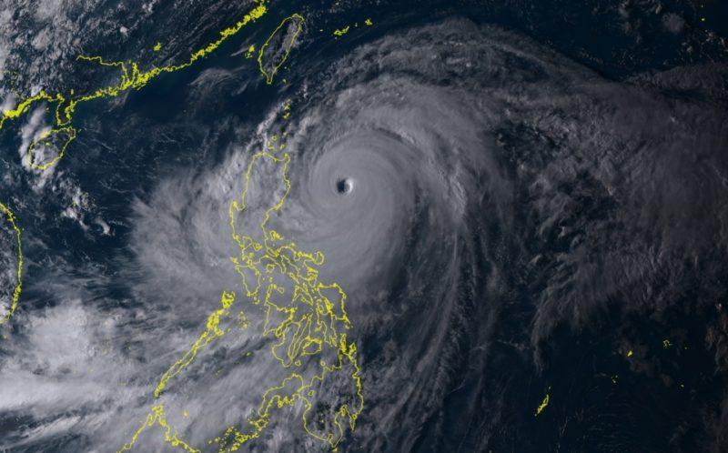 MANGKHUT avant de frapper les Philippines ©RAMMB