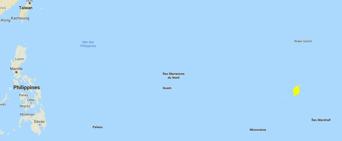 Carte pacifique ouest ©Google Map