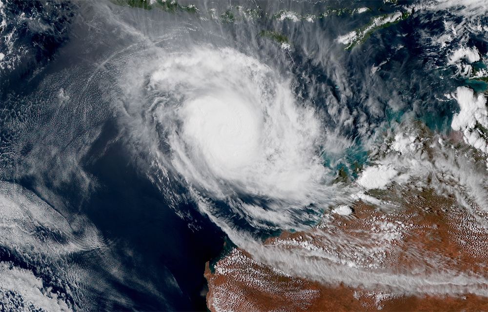 Image satellite Cyclone Tropical MARCUS (cat.4 Aus.) ©RAMMB