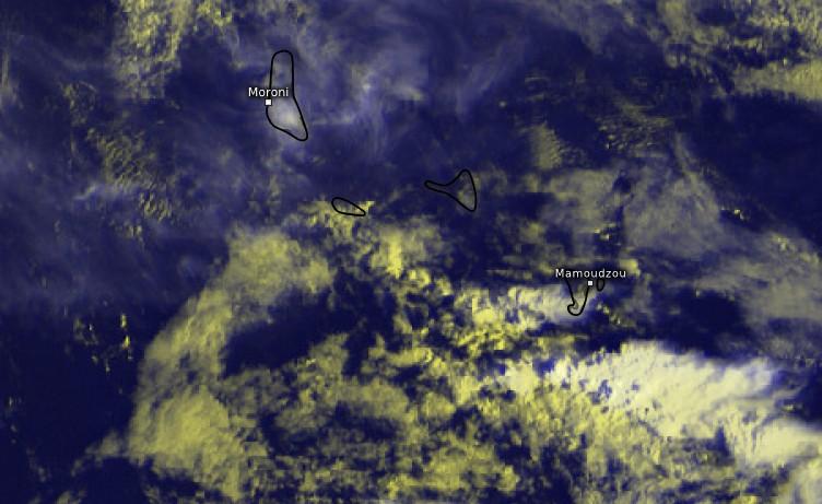 Orage à Mayotte