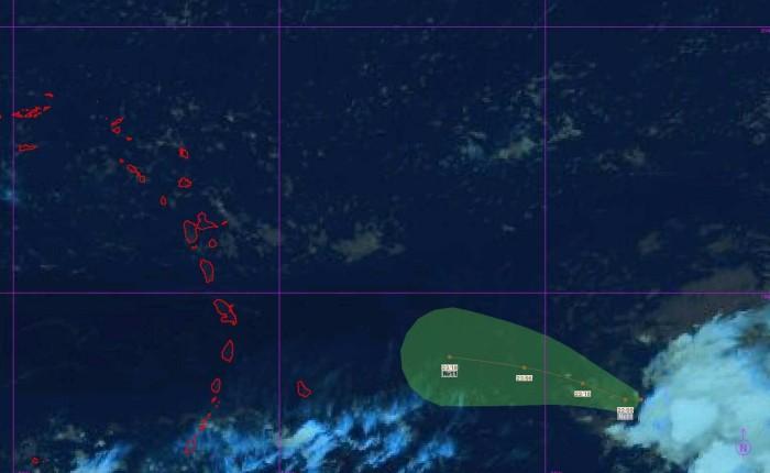 Prévision trajectoire Dépression Tropicale n°11 ©Météo France Antilles Guyane