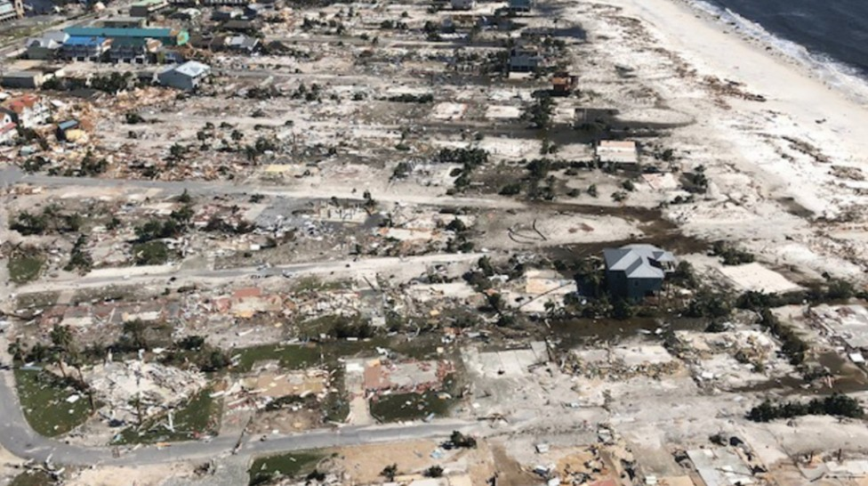 Mexico beach dévasté par la marée de tempête de MICHAEL ©TVAnouvelles