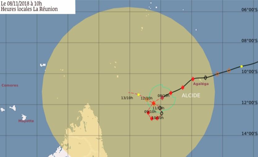 Prévision trajectoire cyclone ALCIDE