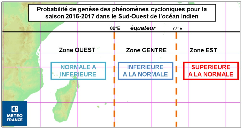 Zone de cyclogenèse préférentielle (Météo France)