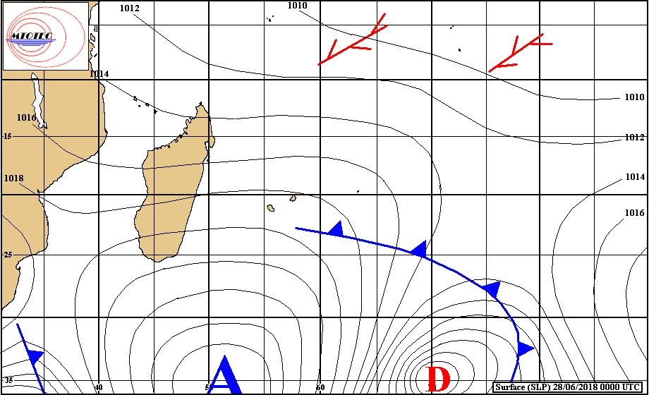Situation générale du 28/06/2018 ©MTOTEC - cycloneoi.com